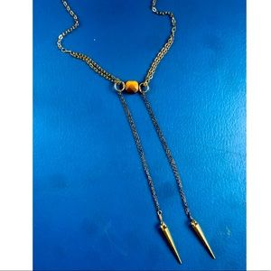 Gold Tiger Bolo Necklace